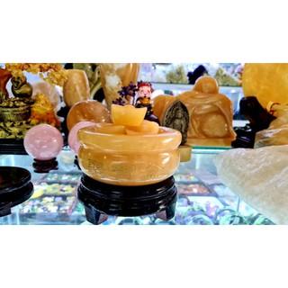 Bát Tụ Bảo (Tụ Bảo Tồn) Đá Ngọc Hoàng Long 12cm