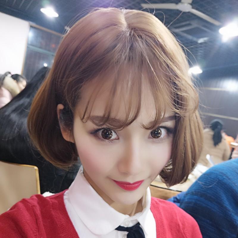 Overseas shipping girls air Liu Hai pear flower head wig wholesale Harajuku wind