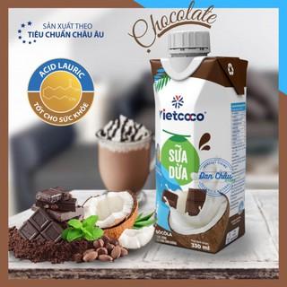 [Vị Socola] Sữa Dừa VIETCOCO Sữa Thực Vật 100% Nguyên Chất, Giàu Canxi, Tốt Cho Ăn Chay, Ăn Kiêng, Bệnh Tim Mạch | 330ml
