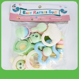 Bộ đồ chơi xúc xắc Baby Rattles Suit 8 món LOẠI XỊN