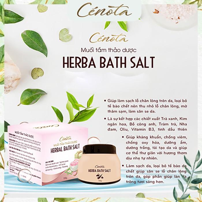 Muối tắm thảo dược tự nhiên, muối tắm làm sạch lỗ chân lông - C02 -Freeship