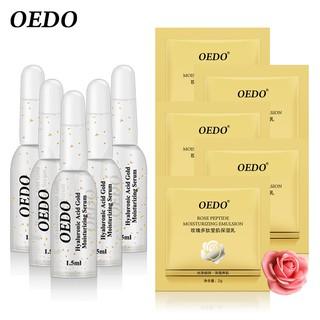 [Hàng mới về] Bộ 5 Serum axit hyaluronic và giúp dưỡng ẩm thu nhỏ lỗ chân lông+Nước hoa hồng peptide dưỡng ẩm hiệu OEDO thumbnail