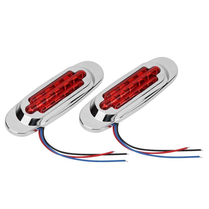 2pcs 12V 16LED Side Marker Light Brake Clearance Turn Signal Lamp for Trailer Truck