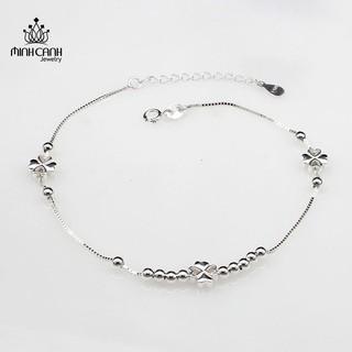 [Mã MCJ20 giảm 20K đơn từ 199K] Lắc Chân Cỏ 4 Lá May Mắn Bạc Ý S925 - Minh Canh Jewelry thumbnail