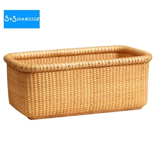 Desktop Weaving Storage Basket Office Storage Basket Toilet Makeup Storage Basket European Style Storage Basket