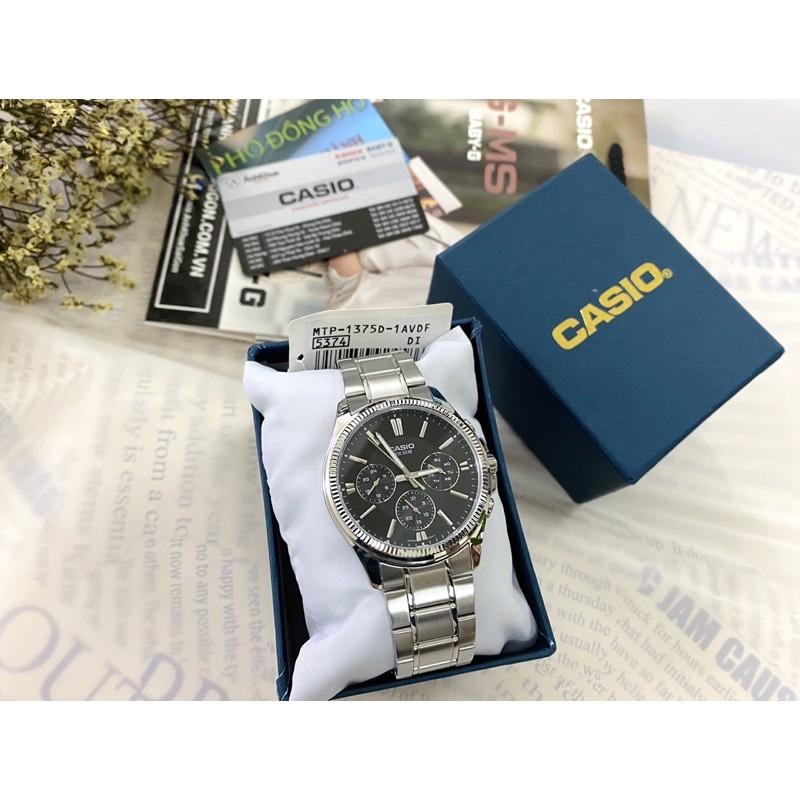 Đồng hồ nam dây kim loại Casio chính hãng Anh Khuê MTP-1375D-1AVDF