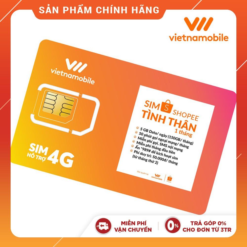 [Mã ELVNM1111 giảm 15% đơn 200k] [Miễn Phí 1 Tháng] Sim Tình Thân Free Nghe gọi và Data 5GB / ngày Vietnamobile Official