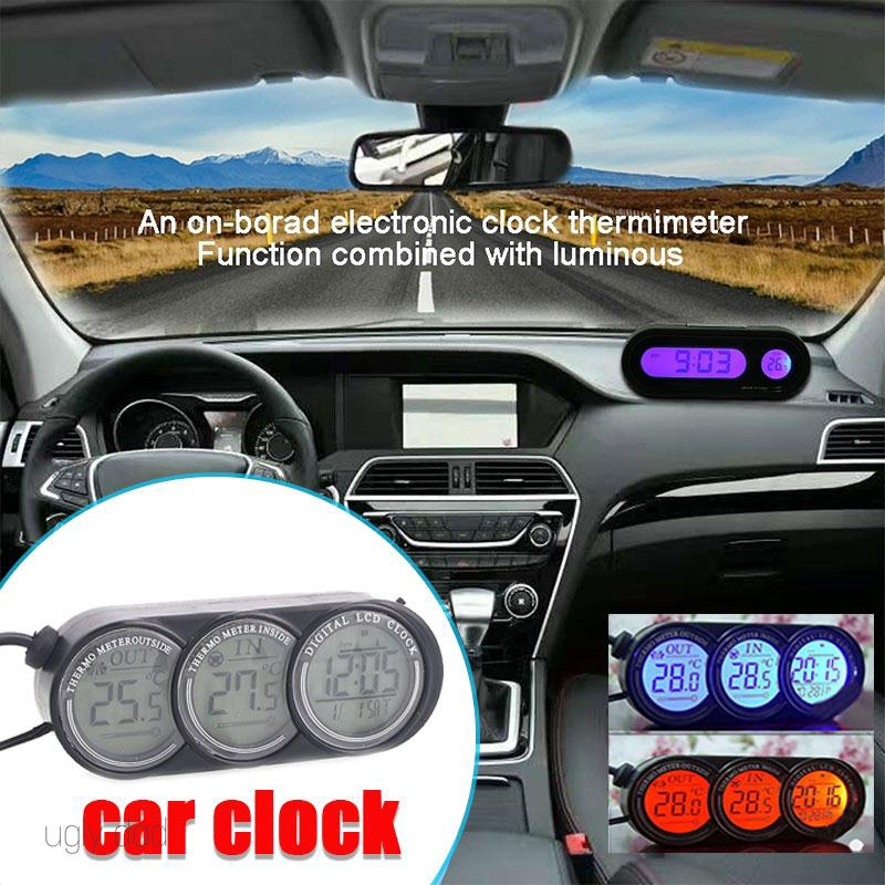 Mall Portable Car Time Display 3 in 1 Automotive Electronics