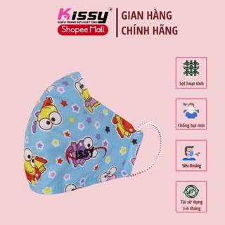 Khẩu trang Kissy cho trẻ em mẫu ếch dễ thương loại 4 đến 10 tuổi thumbnail