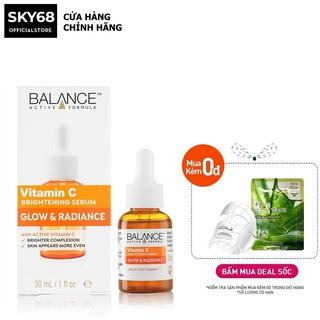 [Mã FMCGMALL giảm 8% đơn 250K] Tinh Chất giảm Thâm, Trắng Da Balance Active Formula Vitamin C Brightening Serum 30ml