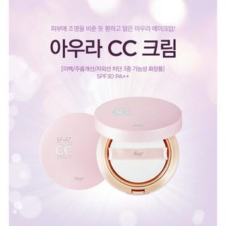 [Mẫu Mới] Kem Nền CC Cream The Face Shop Face It Aura Color Control Cream SPF30 PA 20g
