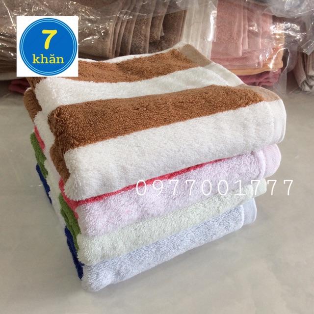 Khăn tắm cỡ trung 35x75cm 100% cotton Sọc nhiều màu - KMH