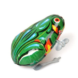 Frog Model Nostalgic Wind-up Toy for Baby