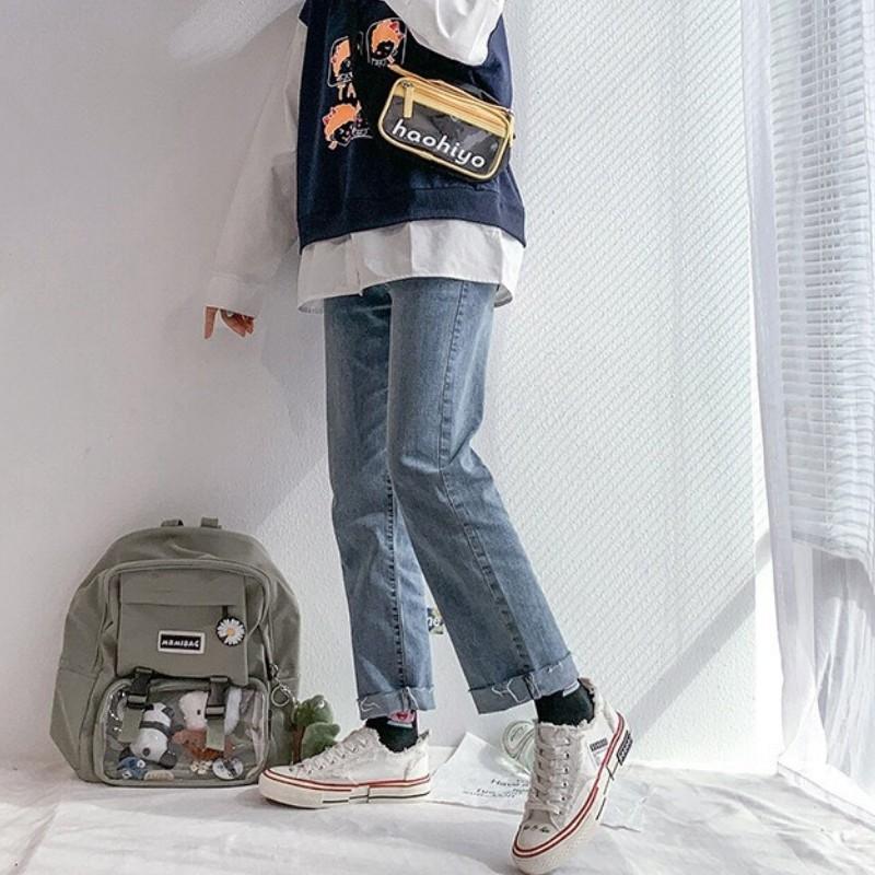 Giày Vải Nữ DVT31 Ăn Mày Lưu Hóa Thoáng Khí Phiên Bản Hàn Quốc