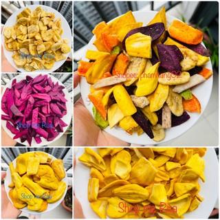 2kg Hoa quả sấy vụn (Trái cây sấy vỡ) | Thập cẩm sấy, mít sấy, chuối sấy, khoai lang tím sấy