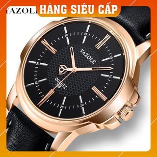 [CAO CẤP] Đồng hồ nam Yazole 358 dây da thời trang sang trọng lịch lãm
