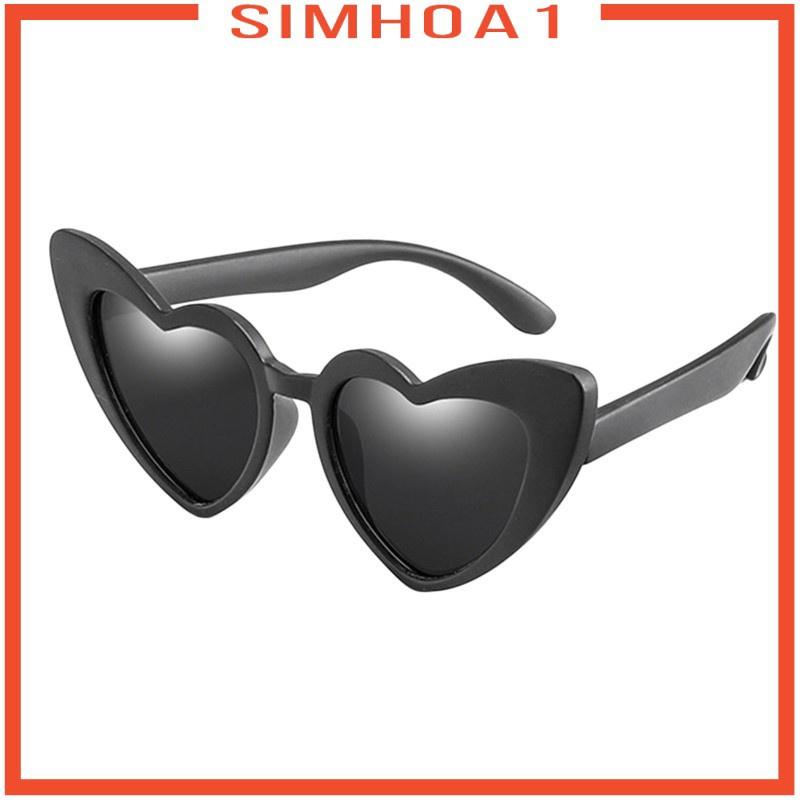 [SIMHOA1] Polarized UV Protection Children\'s Heart Shape Sunglasses for Children Kids Pink