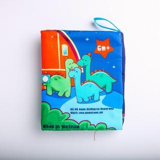 [ RẺ VÔ ĐỊCH] Sách vải Mô Mô Home – Hành trình của Dino – Made in Vietnam reoilare88