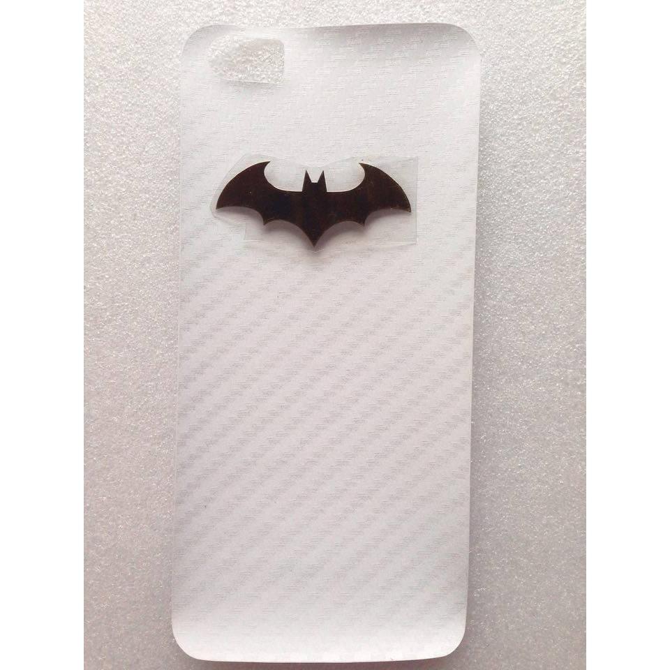 Logo batman + dán cacbon xiaomi ( tặng ốp silicon )