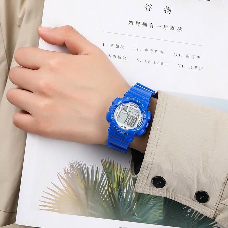 Đồng hồ điện tử nam nữ Sport sp1 mặt tròn dây silicon cực đẹp v35c5