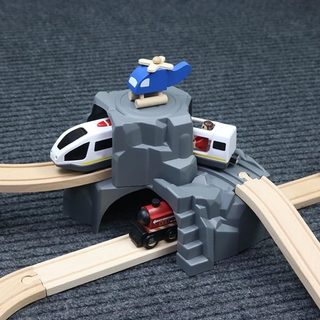 LT03-Double Tunnel Train Track Accessories Tunnel Track Train Baby Toy