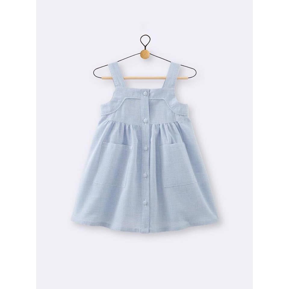 1120502282 - Váy đầm hai dây bé gái xuất Anh (18 months)