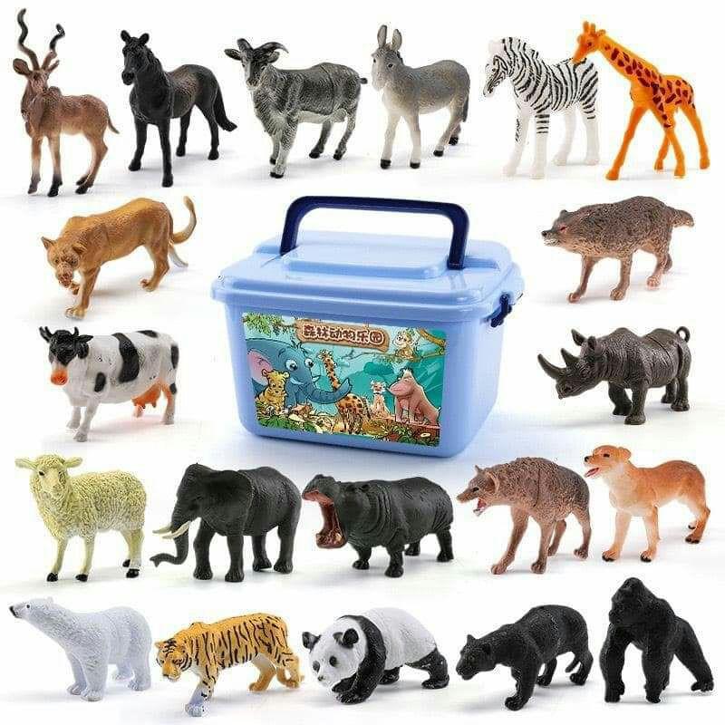 Bộ đồ chơi con vật rừng cho bé 58 cho tiết
