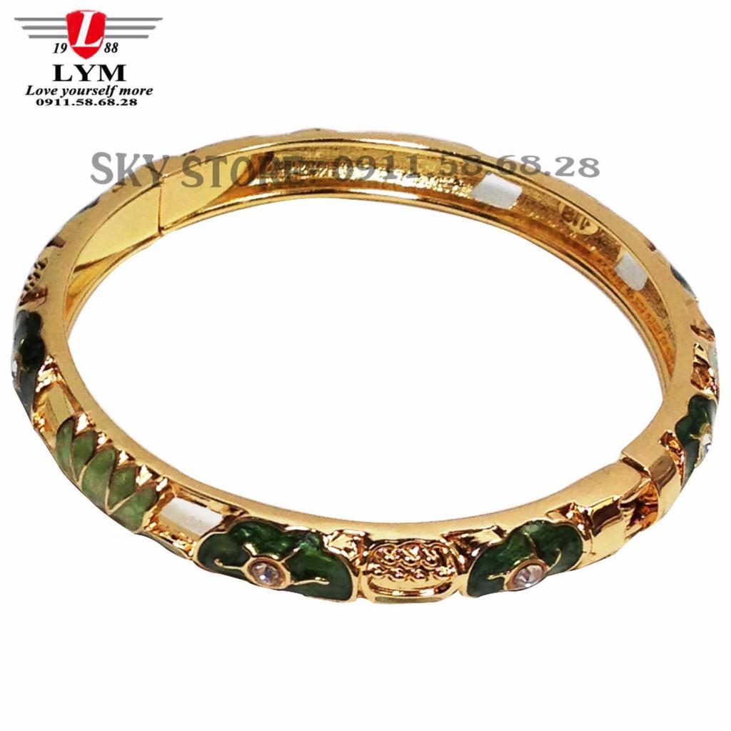 Vòng tay nữ mạ vàng không gỉ cá tính phong cách Hàn Quốc FC-988 (VÀNG)