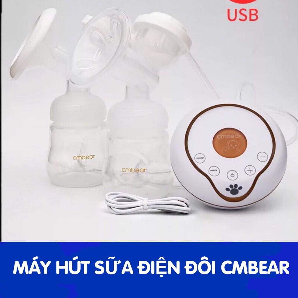 Máy hút sữa điện đôi Cmbear 9 tốc độ hút cực khỏe- Tặng kèm 10 túi tr