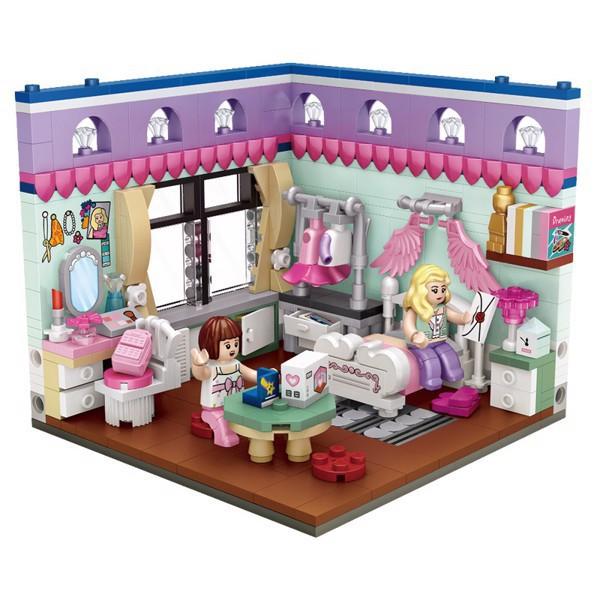 Bộ đồ chơi lắp ráp trẻ em Phòng ngủ bé gái LOZ 1902 (471 chi ti