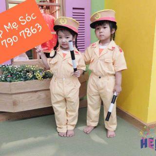 Quần áo công an trẻ em – đầy đủ phụ kiện