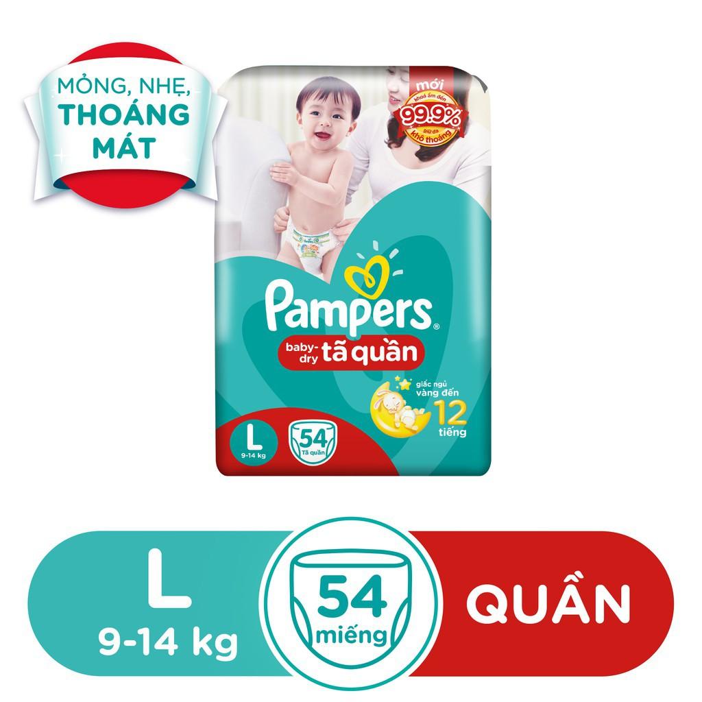 Hình ảnh [HCM]Tã Quần Pampers Baby-Dry bịch Jumbo đại đủ size M60/L54/XL48-2