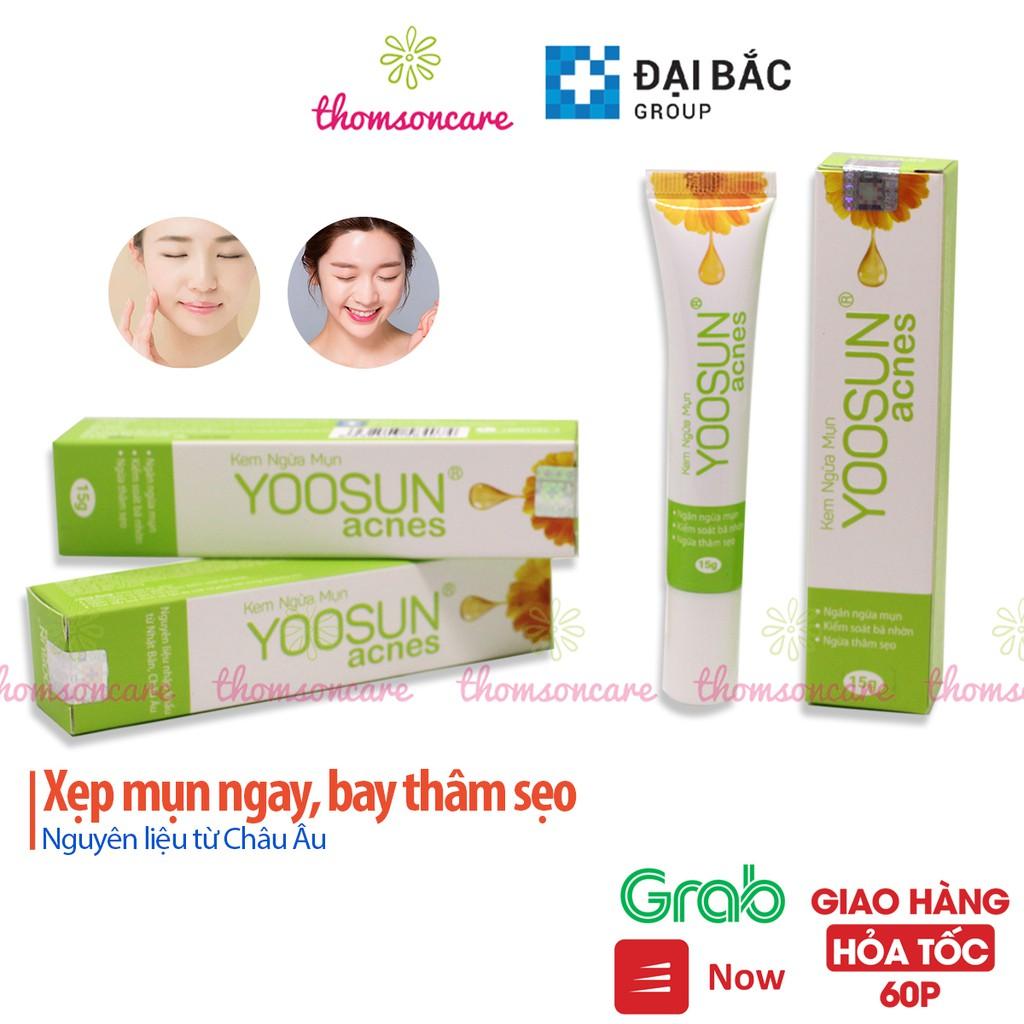 Kem ngừa mụn Yoosun Acnes tuýp 15g - sạch mụn, thâm từ thảo dược, cho da dầu, khô đâu đen, mụn mủ cho nam nữ