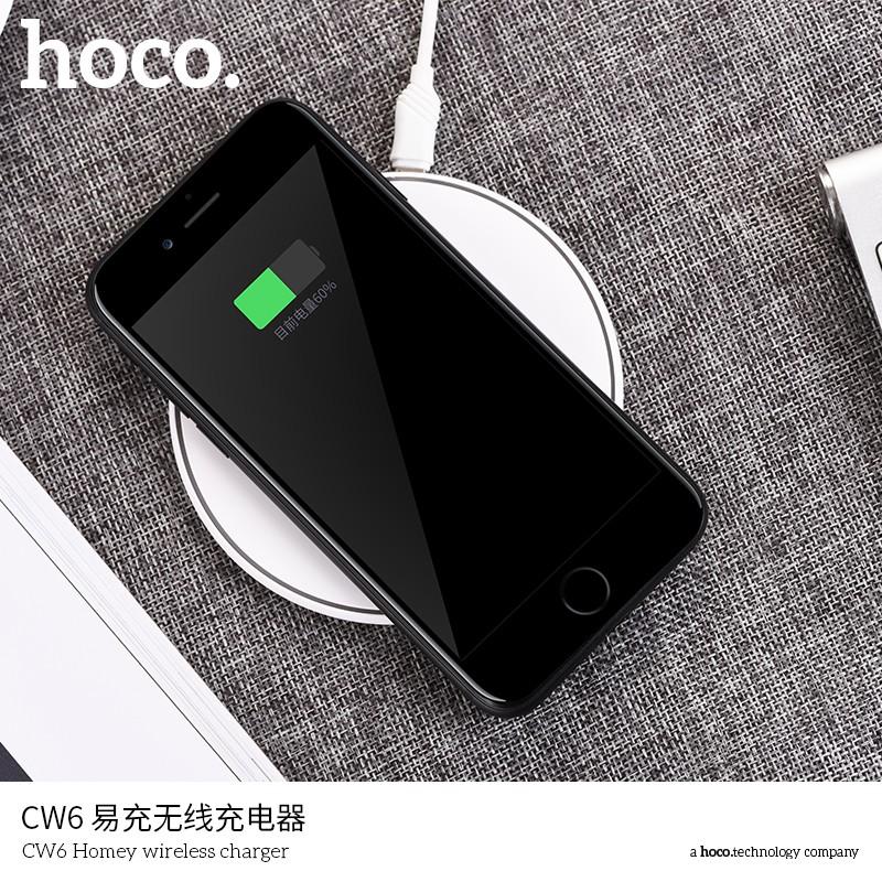 Hoco CW6 Đế Sạc Không Dây Đa Năng Sạc Nhanh Chuẩn Qi Cho Iphone X , Iphone 8, Note8 Hoco CW6