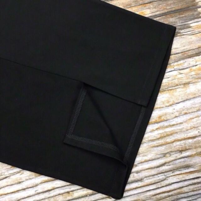 💋 Chân váy bút chì công sở đen (ảnh thật) khóa lưng xẻ sau mới