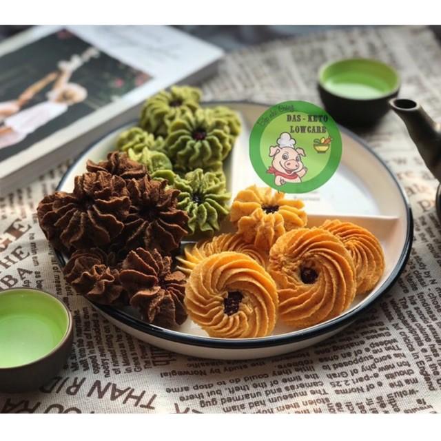 Bánh quy hạnh nhân việt quất Keto/DAS/Tiểu đường