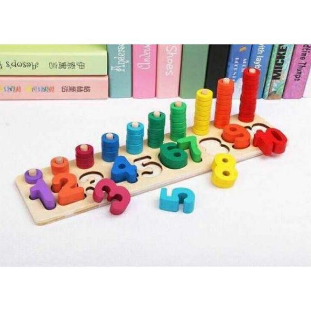 Bộ đồ chơi học đếm số bằng gỗ
