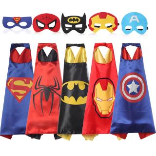 Cloak Super Cool Halloween Costume Dress Up For Kids Superman With Mask
