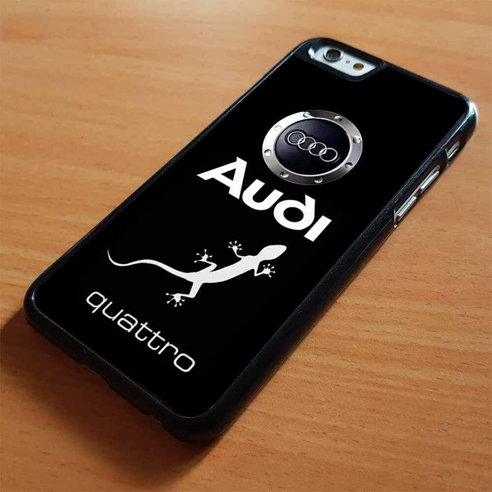 ตุ๊กแกออดี้ quattr ออดี้รถโลโก้ iphone 7 8 x xr xs แม็กซ์เปลือกพลาสติกแข็ง