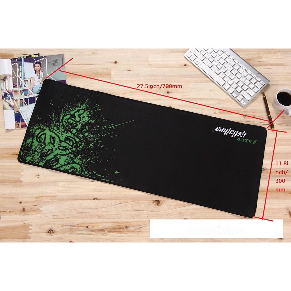 Lót chuột/ Mouse pad/ Bàn di chuột gaming Razer S2 size to cho game thủ 800x300x3mm