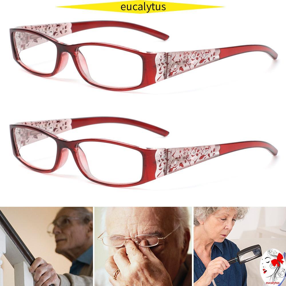 🌸EUTUS🌸 Ultralight Anti Blue Light Reading Glasses Radiation Protection Printing Eyeglasses Presbyopic Eyewear Vision Care Men Women Fashion Anti-blue Rays...