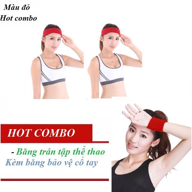 Combo băng đeo trán tập thể thao kèm băng bảo vệ cổ tay màu đỏ - 9959262 , 1002658306 , 322_1002658306 , 89000 , Combo-bang-deo-tran-tap-the-thao-kem-bang-bao-ve-co-tay-mau-do-322_1002658306 , shopee.vn , Combo băng đeo trán tập thể thao kèm băng bảo vệ cổ tay màu đỏ