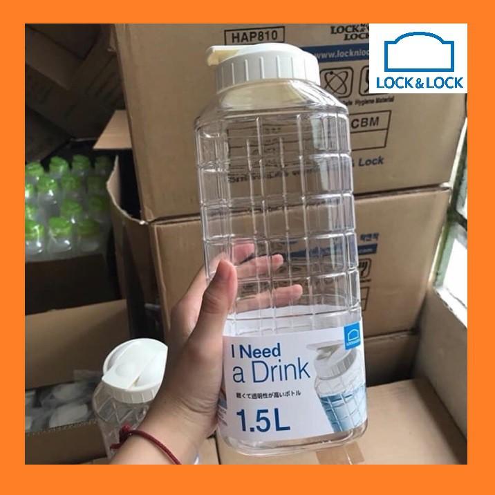 [ 02 cái ] bình nước Lock & Lock 1.5 lít - bình nhựa tủ lạnh cao cấp 1500ml