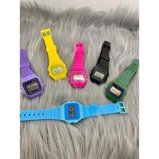 Đồng hồ nam nữ điện tử unisex Y722 có báo thức dây silicon