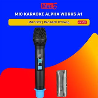 [Mã ELTECHZONE giảm 6% đơn 500K] Mic hát Karaoke Alphaworks A1 chính hãng PGI (Alpha Work) Micro a1