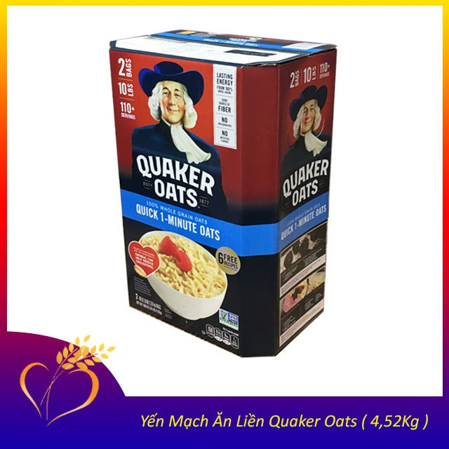 [HÀNG MỚI] Yến mạch cán vỡ Quaker Oats từ Mỹ Date 07/2020 [HÀNG MỚI] Yến mạch cán vỡ Quaker Oats từ Mỹ Date 07/2020