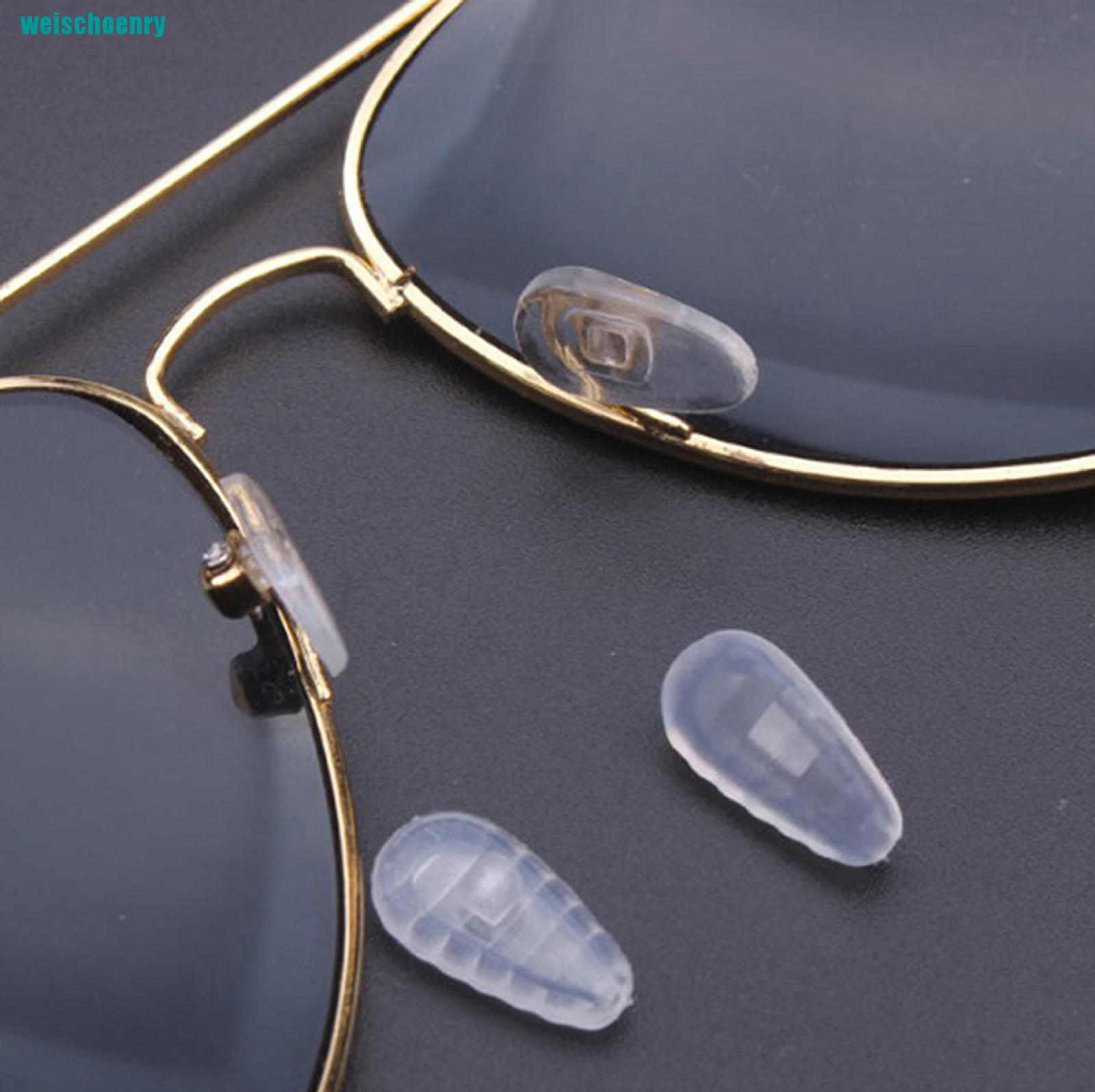 ry●10*Silicone Air Chamber Nose Pads For Glasses Eyeglasses Sunglasses Screw Push