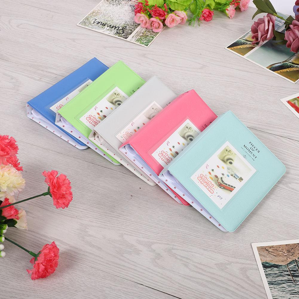 Beautiful 3 inch 64 Pockets Album Photo Case for Fuji Instax Min LOMO Sofort SG