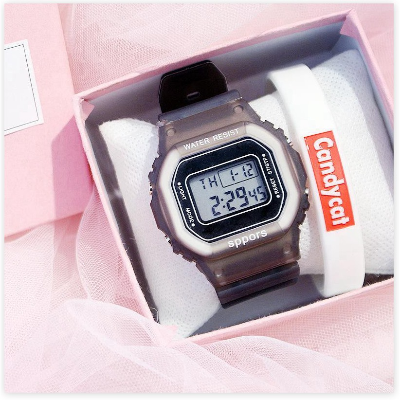 Đồng hồ điện tử  BH 1 THÁNG   Đồng hồ điện tử nam nữ Candycat Sppors chống trầy xước, chống thấm nước hiệu quả 9036
