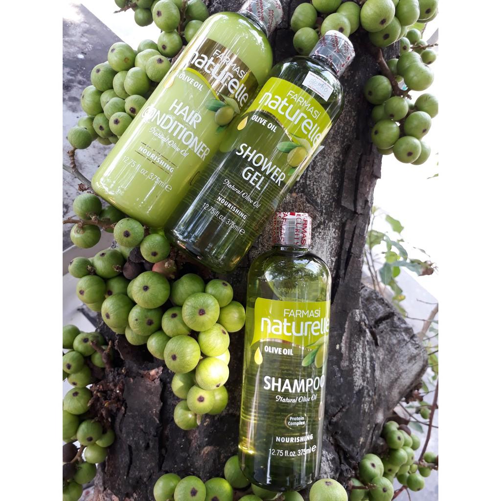 Hình ảnh [Combo3] Dầu Gội & Dầu Xả & Sữa Tắm Chiết Xuất Olive Farmasi 375ml/chai-2